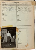 "Music Memorabilia:Documents, Elvis Presley - A Fantastic Wardrobe Continuity Script from ""KingCreole.""..."