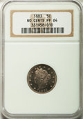 Proof Liberty Nickels: , 1883 5C No Cents PR64 NGC. NGC Census: (276/367). PCGS Population(348/390). Mintage: 5,219. Numismedia Wsl. Price for prob...