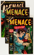 Golden Age (1938-1955):Horror, Menace #7, 9, and 11 Group (Atlas, 1953-54) Condition: AverageGD/VG.... (Total: 3 Comic Books)