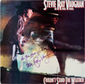 Music Memorabilia:Autographs and Signed Items, Stevie Ray Vaughan Signed Couldn't Stand the Weather LP(Epic FE 39304, 1984). ...