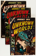 Golden Age (1938-1955):Horror, Journey Into Unknown Worlds #23-26 Group (Atlas, 1954) Condition:Average GD/VG.... (Total: 4 Comic Books)