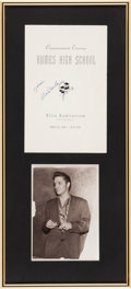 Music Memorabilia:Autographs and Signed Items, Elvis Presley - A Signed Humes High School Commencement Program,1956....