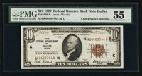 Fr. 1860-K $10 1929 Federal Reserve Bank Note. PMG About Uncirculated 55