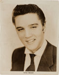 Music Memorabilia:Autographs and Signed Items, Elvis Presley - A Black and White Signed Photograph, Circa1950s....
