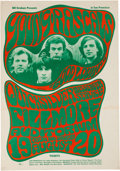 Music Memorabilia:Posters, Young Rascals/Quicksilver Messenger Service Fillmore AuditoriumConcert Poster BG-24 (Bill Graham, 1966)....