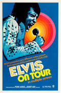 "Music Memorabilia:Documents, Elvis Presley - A One-Sheet Movie Poster from ""Elvis on Tour.""..."