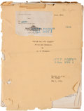 "Movie/TV Memorabilia:Documents, A Lon Chaney-Related Script from ""While The City Sleeps.""..."