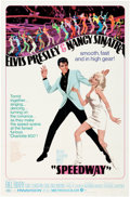 "Music Memorabilia:Documents, Elvis Presley - A One-Sheet Movie Poster from ""Speedway.""..."