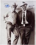 "Movie/TV Memorabilia:Autographs and Signed Items, A Paul Newman and Lee Marvin Signed Black and White Photograph from""Pocket Money.""..."