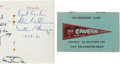 Music Memorabilia:Autographs and Signed Items, Cavern Club 1964 Membership Card Signed by Mike McCartney and AlanWilliams (Liverpool, 1964). ...
