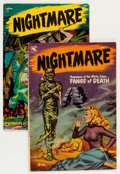 Golden Age (1938-1955):Horror, Nightmare #11 and 13 Group (St. John, 1954) Condition: AverageVG+.... (Total: 2 Comic Books)