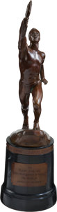 """Golf Collectibles:Miscellaneous, 1949 """"The Sport Magazine"""" Golfer of the Year Trophy Won bySam Snead...."""