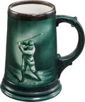 Golf Collectibles:Ceramics/Glass, Early 1900's Lenox Golf Theme Mug....