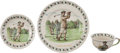 Golf Collectibles:Ceramics/Glass, 1900's Lytham St. Annes Plate, Tea Cup & Cup Holder. ...