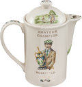 Golf Collectibles:Ceramics/Glass, 1924 Muirfield Amateur Champion Coffee Pot With Cover. ...