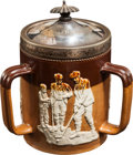 Golf Collectibles:Ceramics/Glass, Royal Doulton Golf Theme Three Handle Jar....