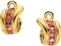Estate Jewelry:Earrings, Tourmaline, Gold Earrings, Verdura. ...