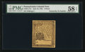 Colonial Notes:Pennsylvania, Pennsylvania June 18, 1764 3d PMG Choice About Uncirculated 58EPQ.. ...
