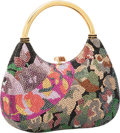 Luxury Accessories:Bags, Judith Leiber Full Bead Black & Multicolor Crystal MinaudiereEvening Bag. ...