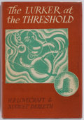 Books:Horror & Supernatural, H. P. Lovecraft and August Derleth. The Lurker at theThreshold. Arkham House, 1945. First edition. Publisher's ...