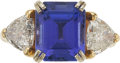 Jewelry, A TANZANITE, DIAMOND, GOLD RING. ...