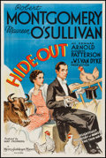 "Movie Posters:Crime, Hide-Out (MGM, 1934). One Sheet (27"" X 40.5"") Style D. Crime.. ..."