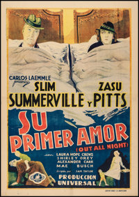 "Out All Night (Universal, 1933). Spanish One Sheet (27.75"" X 39.25""). Comedy"