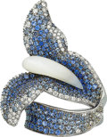 Estate Jewelry:Rings, Mother-of-Pearl, Sapphire, Diamond, White Gold Ring, Salavetti. ...