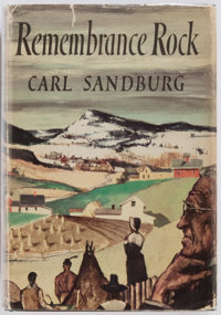 Carl Sandburg. SIGNED. Remembrance Rock. Harcourt, Brace and Company, 1948. First re