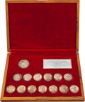 Golf Collectibles:Miscellaneous, World Golf Hall of Fame Medallion Set from The Sam Snead Collection....