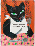 Books:Children's Books, Eric Carle. SIGNED. Today is Monday. Philomel Books, 1993.First edition. Signed on a special label mounted to t...