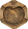 Golf Collectibles:Autographs, 1948 Masters Tournament Brass Ashtray Presented to Sam Snead....