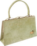 Golf Collectibles:Miscellaneous, 1965 Masters Custom Celery Green Handbag With Coin Purse from The Sam Snead Collection. ...