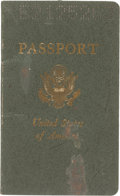 Golf Collectibles:Miscellaneous, 1974 Sam Snead United States Passport from The Sam Snead Collection....