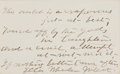"Autographs:Authors, Ella Wheeler Wilcox (1850-1919), American Author and Poet.Autograph Quote Signed ""Ella Wheeler Wilcox"". Signed on a 4""..."