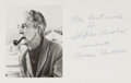 "Autographs:Artists, Norman Rockwell (1894-1978), American Painter and Illustrator. Portrait Postcard Inscribed ""My best wishes to Stephen Kose..."