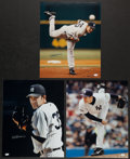 Baseball Collectibles:Photos, Mike Mussina Signed Oversized Photographs Lot of 3....