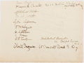 "Autographs:Celebrities, John Maynard Keynes (1883-1946), British Economist. Autograph ""J. M. Keynes"". Signed along with other contemporary signa..."