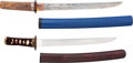 Edged Weapons:Other Edged Weapons, Lot of Two Japanese Tanto in Koshirae, One Signed... (Total: 2 )