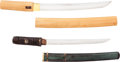 Edged Weapons:Other Edged Weapons, Lot of Two Japanese Tanto ... (Total: 2 )