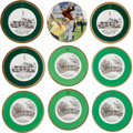 Golf Collectibles:Miscellaneous, 1990's Augusta National Limited Edition Collectable Plates (One Signed) from The Sam Snead Collection....