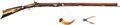 Long Guns:Muzzle loading, Half-Stock S. Small Percussion Rifle with Horn and Bullet Mold.... (Total: 3 Items)