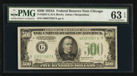 Fr. 2202-G $500 1934A Federal Reserve Note. PMG Choice Uncirculated 63 EPQ