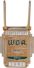 Golf Collectibles:Miscellaneous, 1961 Western Open Contestant Money Clip from The Sam Snead Collection....