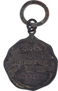Golf Collectibles:Miscellaneous, 1912 Jim Barnes Canadian Open Contestant's Badge....
