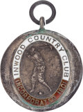 Golf Collectibles:Autographs, 1917 Jim Barnes Red Cross Exhibition Medal....