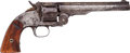 Handguns:Single Action Revolver, Smith & Wesson Early First Model U.S. Schofield Single ActionRevolver....