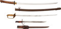 Edged Weapons:Swords, Lot of Assorted World War II Japanese Edged Weapons ... (Total: 3 Items)