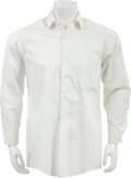Music Memorabilia:Costumes, Buddy Holly Stage-Worn White Dress Shirt....