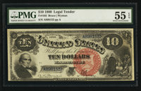 Fr. 103 $10 1880 Legal Tender PMG About Uncirculated 55 EPQ